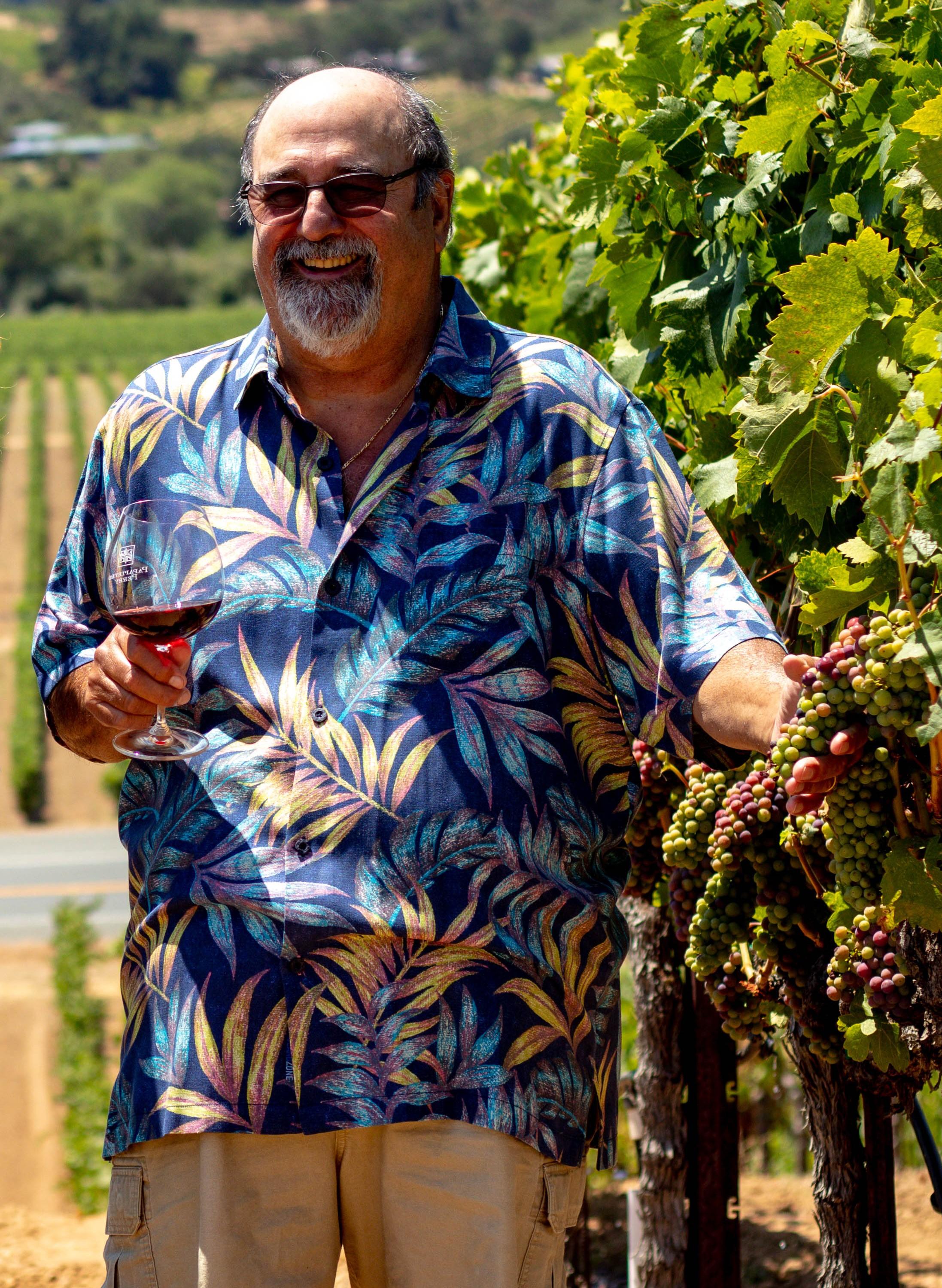 Ben Papapietro in the vineyard