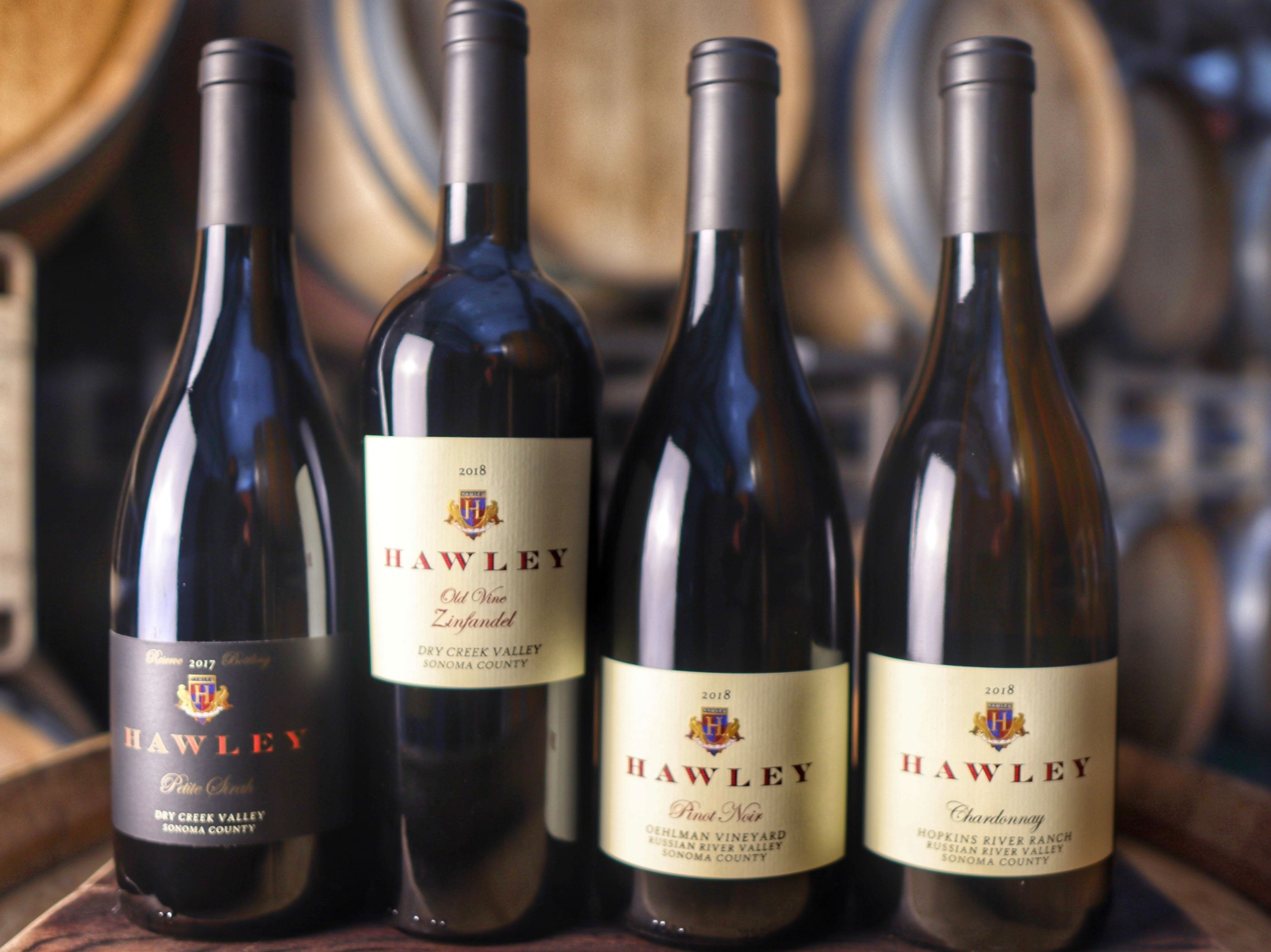 Hawley Fall 2020 release wine bottles
