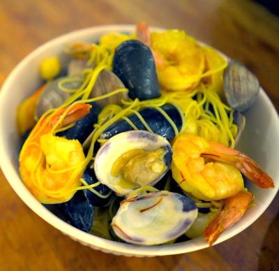 Seafood Pasta Saffron Cream
