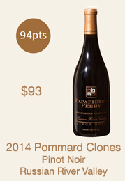 2014 Pommard Clones Pinot Noir Library Selection