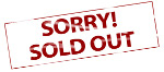 Sign - Sorry Sold Out - 150x66 Calendar