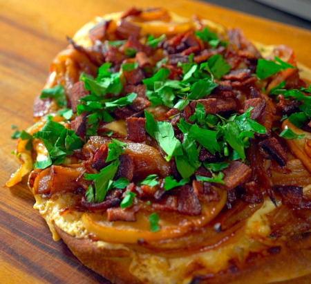 Apple, Bacon & Onion Flatbread