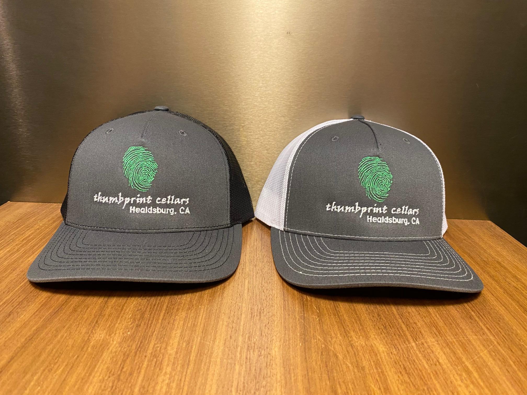Trucker Hat Charcoal/Black- Green Thumb