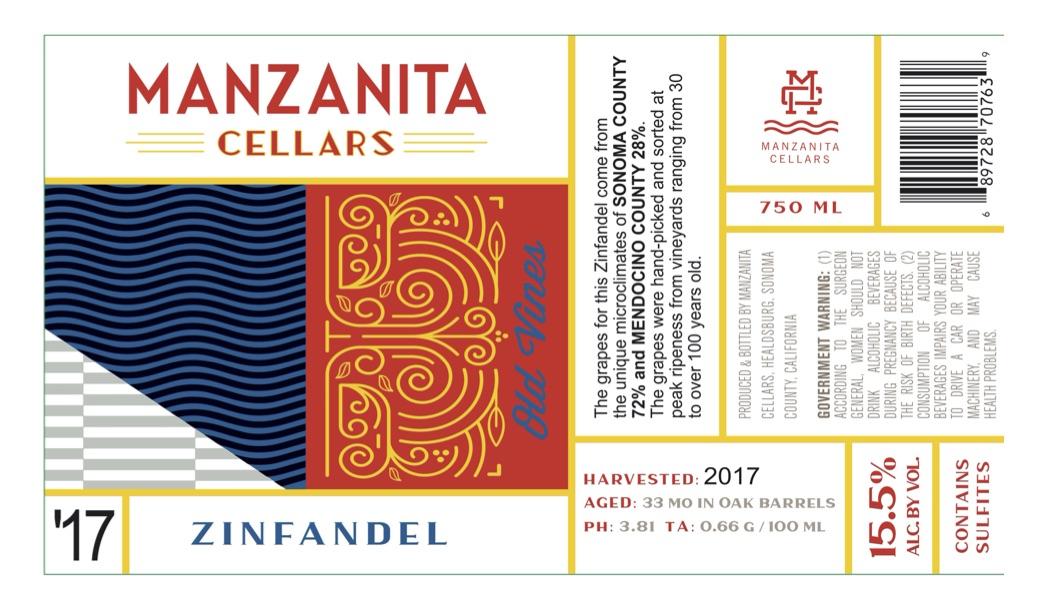 2017 Manzanita Cellars Old Vine Zinfandel