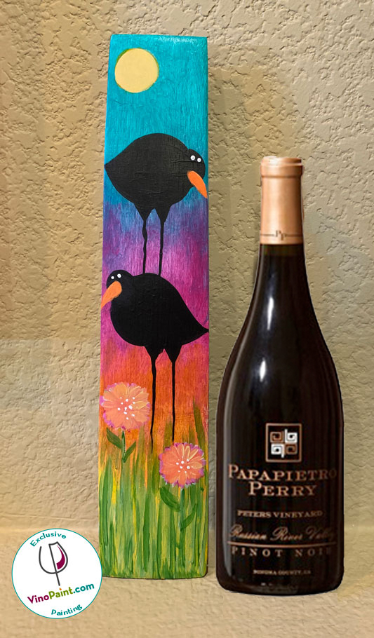 Vino Paint barrel stave and Peters Pinot Noir