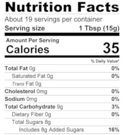 Balsamic Garlic Herb Jam Nutrition 250x275