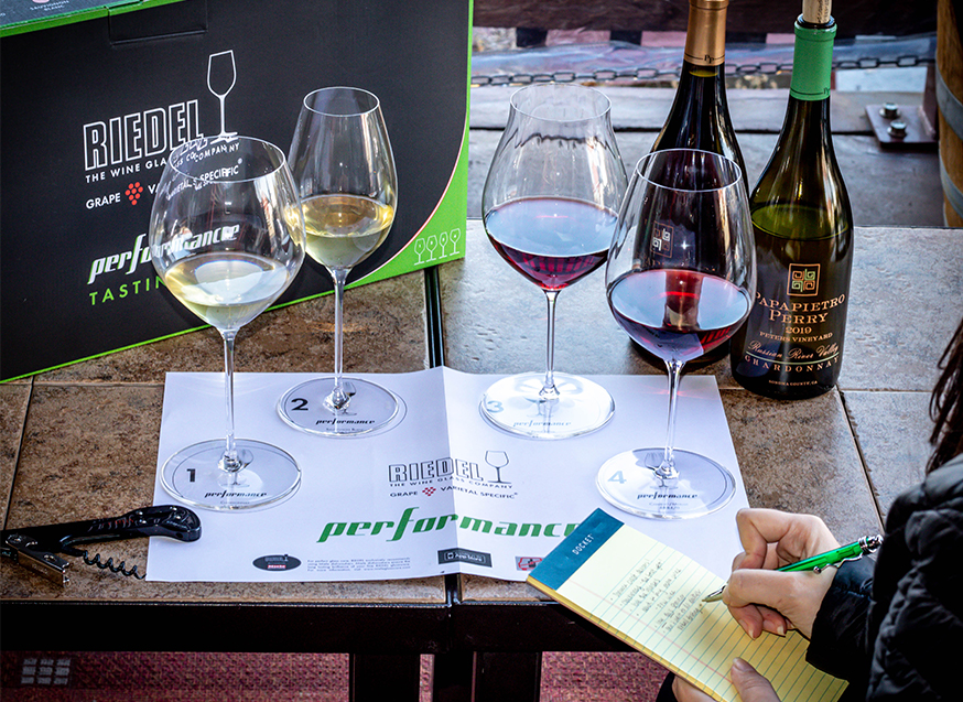 Riedel Wine Glass set and tasting mat
