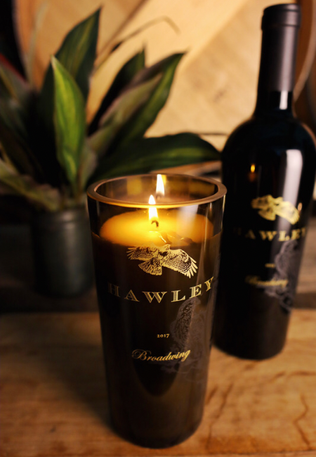 Wine Bottle Candle - Tall