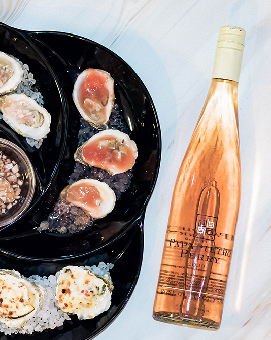 Rosé and oysters