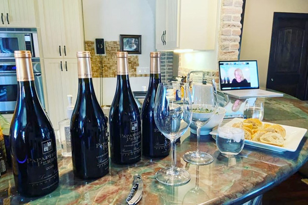 Vino at Home Private Virtual tasting