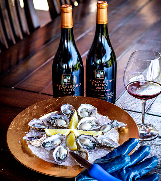 Pinot In a Half Shell