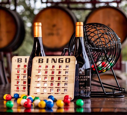 Wine and bingo cards 2 bottle