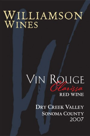 Clarissa Vin Rouge 2007 - Half Bottle