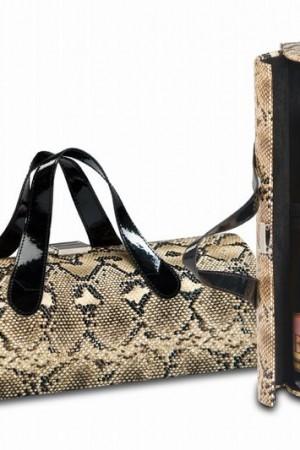 Carlotta Clutch in Snake