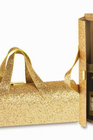Carlotta Clutch in Glitter Gold