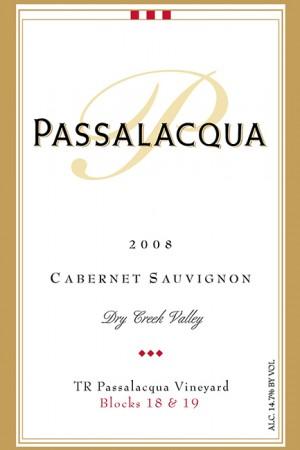 2008 TR Passalacqua Vineyard Cabernet Sauvignon, Blocks 18 & 19