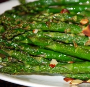 Side - Oven Roasted Asparagus & Almonds