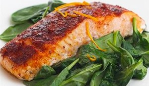 Salmon Roasted with Smoked Paprika Glaze