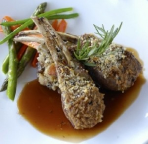 Rack of Lamb with Black Truffle Infused Crust