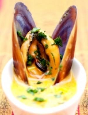 Mussels in a Kashmiri Chili Broth
