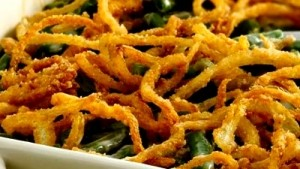 Holiday Green Bean Casserole with Crispy Onions
