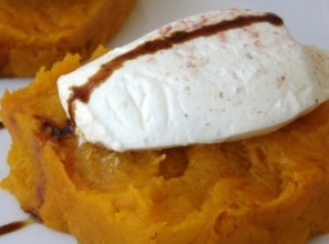 Goat Cheese Pumpkin Puree