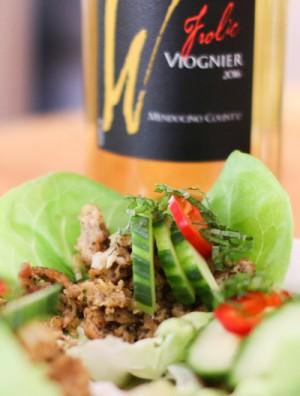 Thai Chicken Lettuce Wraps with Lemongrass Sauce