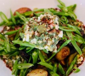 Roasted Potato Salad, Sauce Gribiche & Green Beans