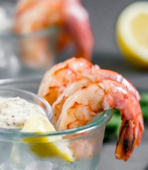 Poached Shrimp with Australian Spiced Remoulade