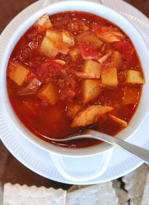 Spicy Spanish Smoked Fish Chowder