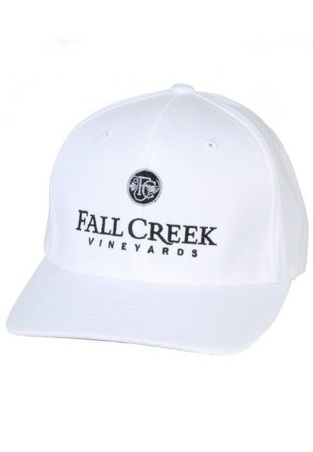 Fall Creek <br>FlexFit White Baseball Hat <br>-S/M
