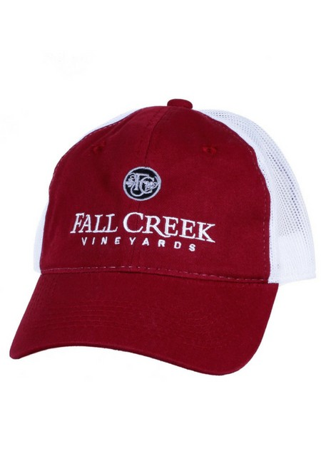 Fall Creek <br>Mesh Baseball Hat -Burgundy