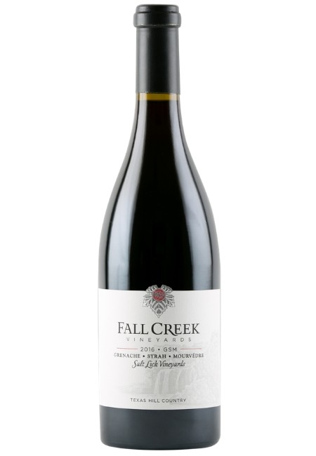 Fall Creek Vineyards <br>Grenache, Syrah, Mourvèdre <br>Salt Lick Vineyards 2016