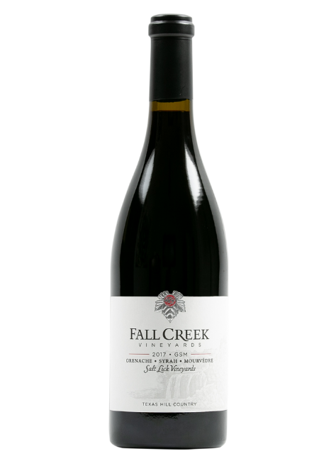 Fall Creek Vineyards Grenache, Syrah, Mourvèdre Salt Lick Vineyards Terroir Reflection Texas Hill Country 2017