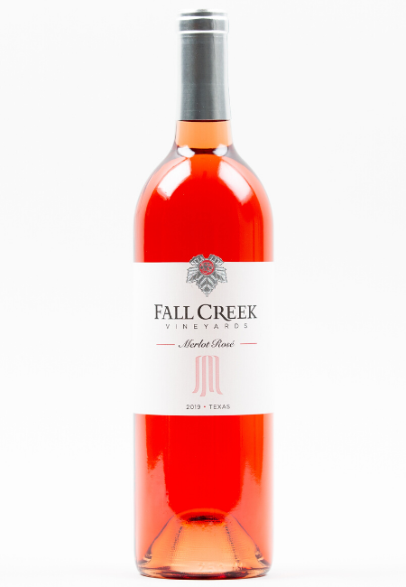 Fall Creek Vineyards Merlot Rose Vintner's Selection Texas Hill Country 2019